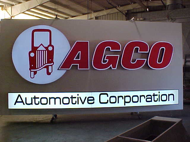 AGCO Automotive 2009 sign, electrical trial
