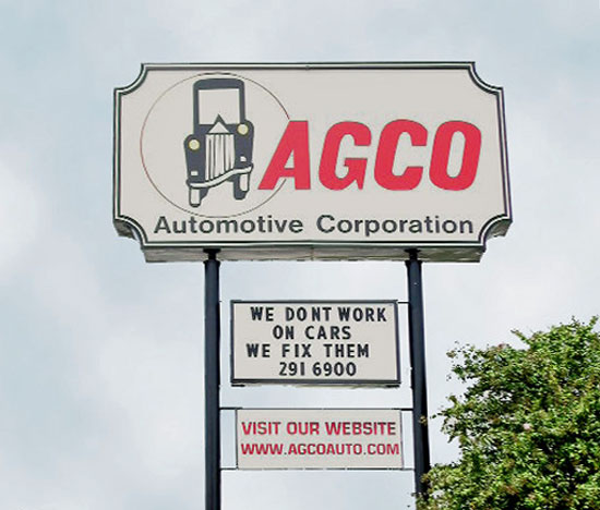 The AGCO Automotive sign 1999 - 2009
