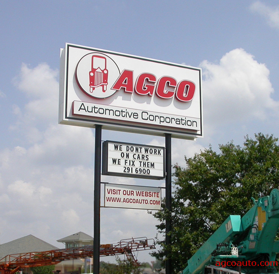 The AGCO Sign, Prior to August 2009
