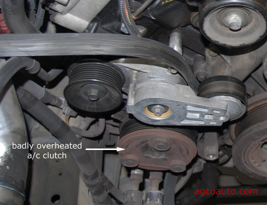 Belt broke before permanent damage was done to ac clutch