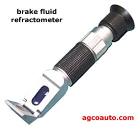 A brake fluid  refractometer for measuring moisture content
