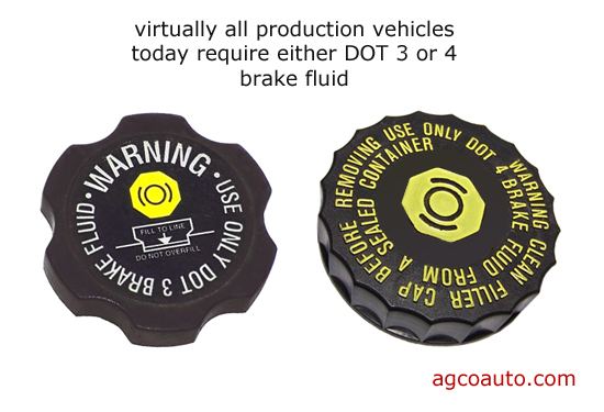 Check the brake reservoir cap or owner's manual for the proper fluid type