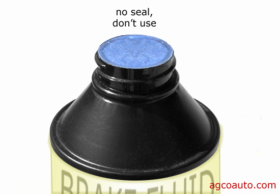 Always use a new, sealed bottle of brake fluid