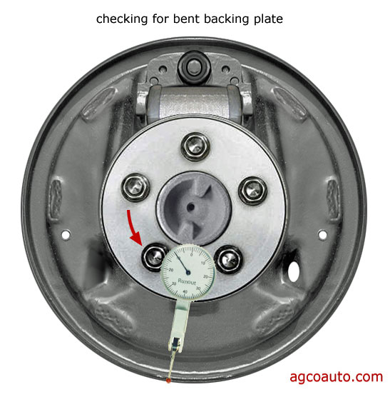 Bent drum brake backing plates are common and cause problems