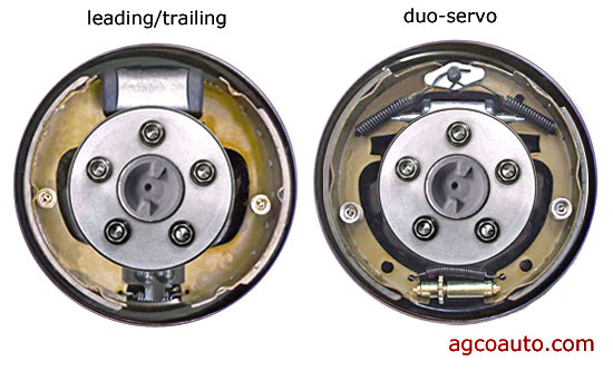 The differnce in duo-servo and leading trailing drum brakes