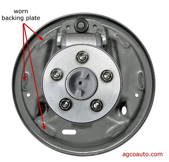 Worn drum brake backing plates cause many problems