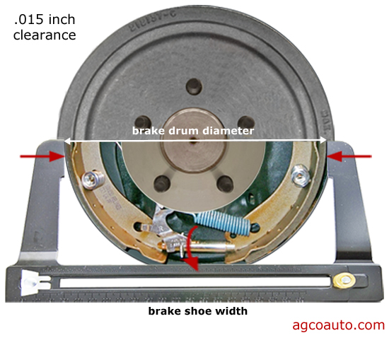 Brake shoe proper adjustment