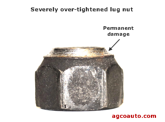 Lug nuts and wheels are permanently damaged by over tightening