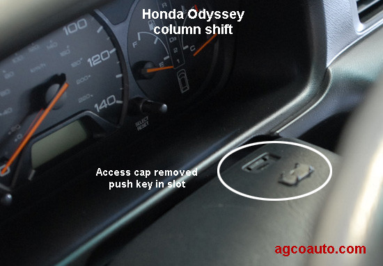 How To Override 1997 Honda Odyssey Gear Shifter From A