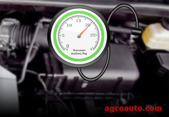 Connect a vacuum gauge to the booster line to test vacuum