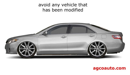 modified vehicles will almost always mean future problems