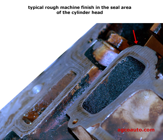 GM cylinder head machine work at sealing area of intake port