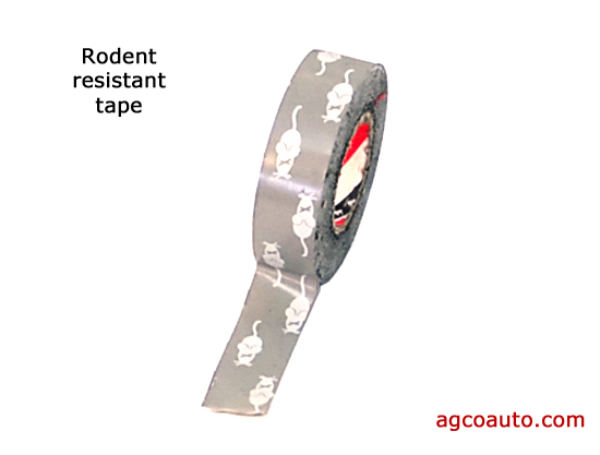 Rodent resistant tape for repair of rodent damage
