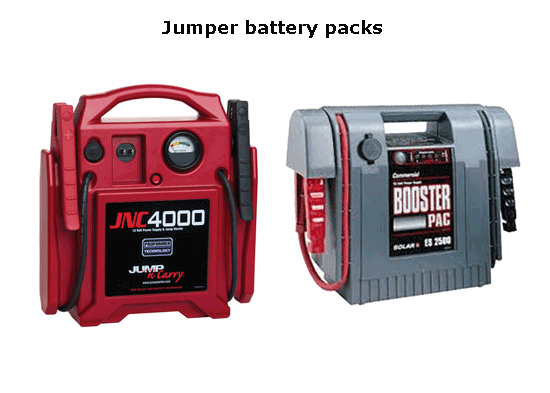 Jumper batteries are inexpensive and very helpful