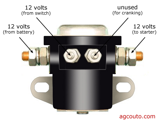 please help me with basic solenoid connections? mytractorforum 3 pole starter solenoid wiring diagram 4 post starter solenoid wiring diagram