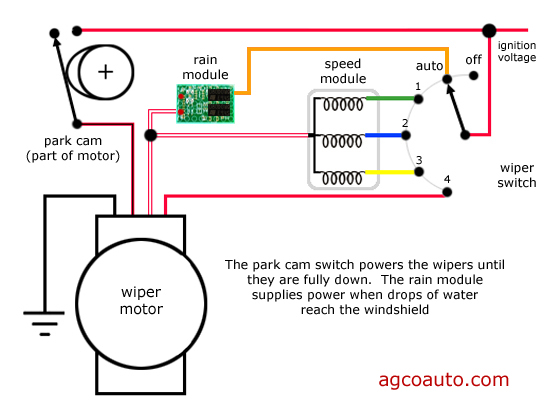windshield_wipers_basic_wiring agco automotive repair service baton rouge, la detailed auto wiper wiring diagram at n-0.co