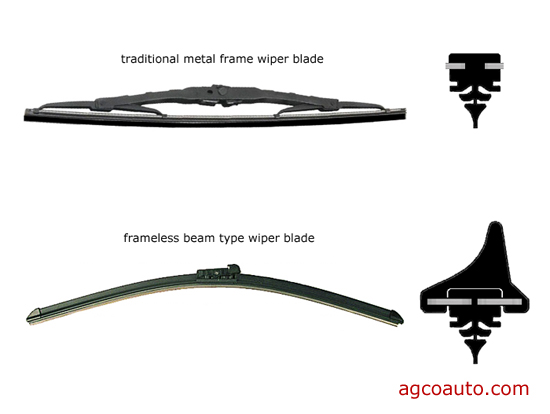 spring loaded and newer one-piece wiper blades