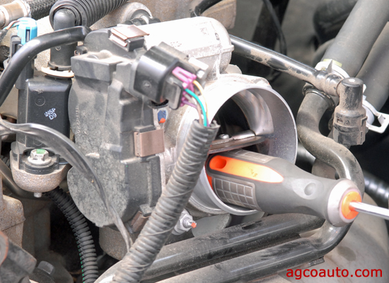 block a drive-by-wire throttle open for compression test