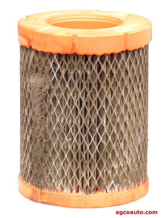 Debris can fall from a dirty air filter into the air intake