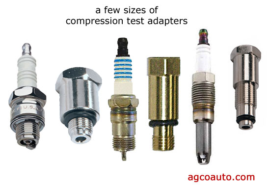a few compression test adapters