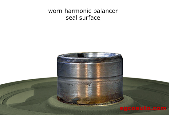 Hardened seals can damage the harmonic balancer