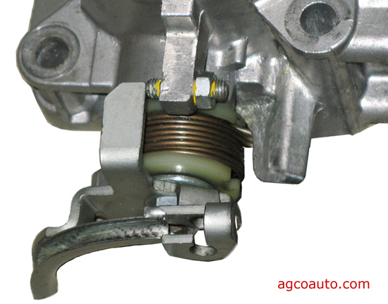 Screw on throttle body is NOT an idle adjustment and should not be tampered with