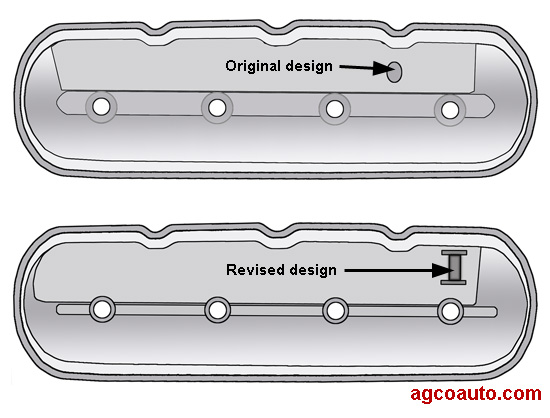 A revised left valve cover may help