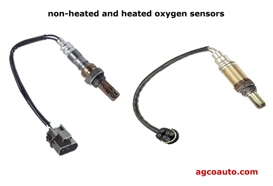 oxygen sensor catalytic converter. typical heated and non-heated oxygen sensors sensor catalytic converter