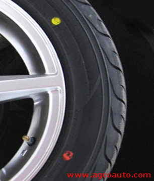 Yellow and red sidewall dots