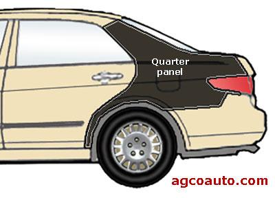 A rear quarter panel