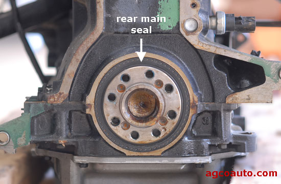 Typical rear main seal.