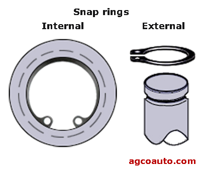 internal and external snap rings