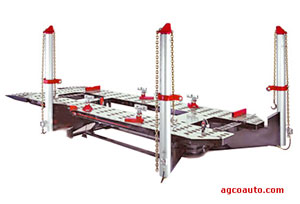 The AGCO Automotive frame straightening machine