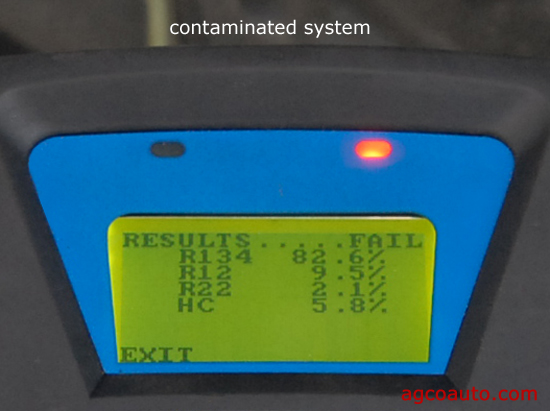 air conditioner contaminated by sealer in refrigerant