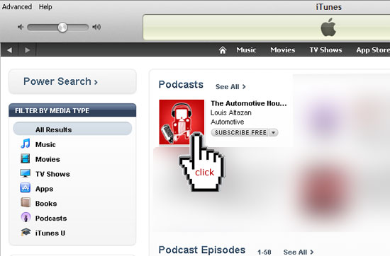 Click on our red logo in iTunes to rate the Automotive Hour
