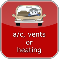 air conditioner, vents and heater information