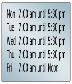 AGCO automotive normal business hours