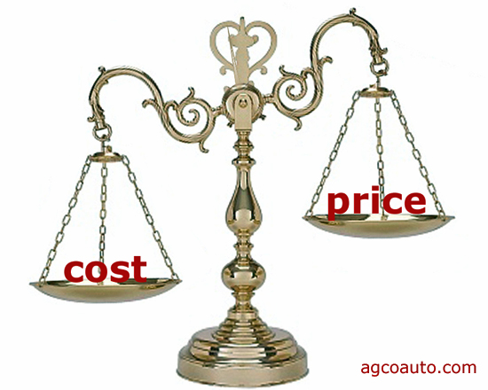 cost equals price, plus problems, plus what it takes to make it work, divided by how long it last