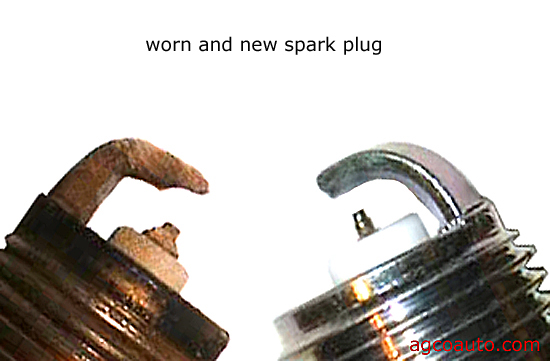 Spark plugs wear out with mileage and may not show symptoms