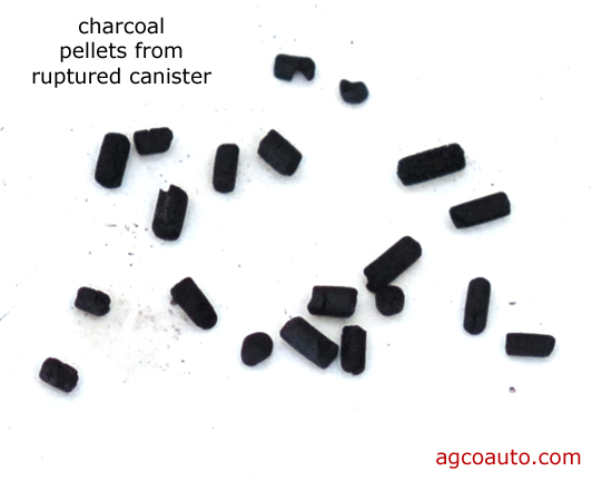 Charcoal pellets will clog the system, if they are not contained