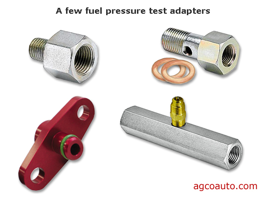 a few fuel pressure test adapters