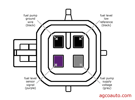 typical gm fuel pump connector wiring