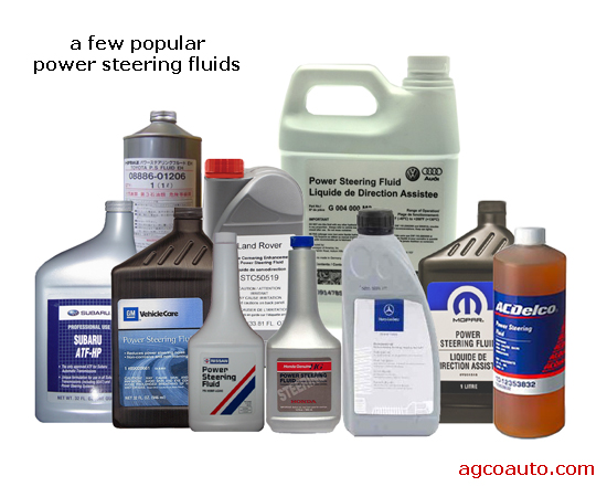 Just a few power steering fluids in common use