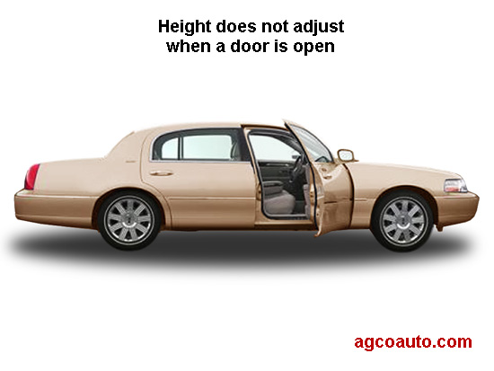 With a door open, height does not adjust