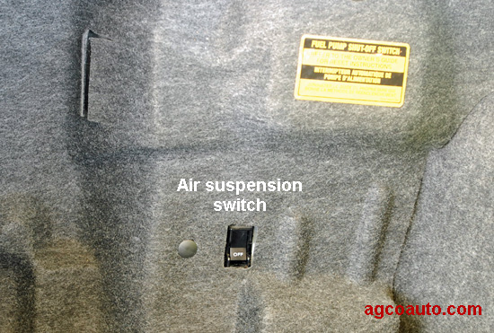 When the switch is off, the check suspension message is on
