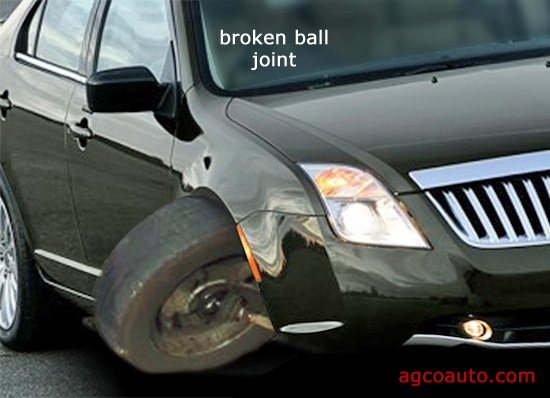 Broken ball joint mountings are catastrophic.