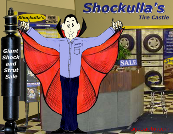 Shockulla tells everyone they need shocks and struts