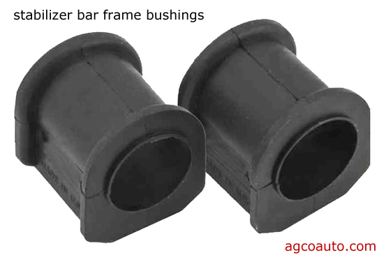 worn bushings produce noise and feel like a rough ride