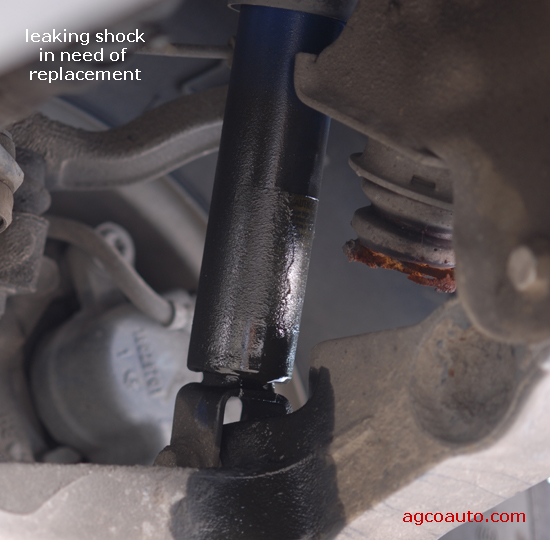 shock absorber actually leaking