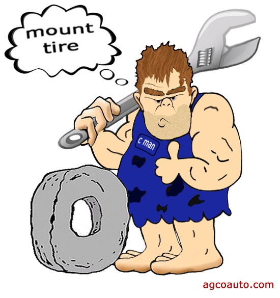 a caveman cannot properly mount and balance tires